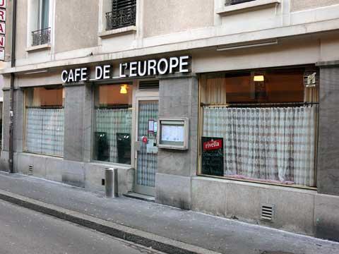 Café de l'Europe - Lausanne